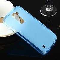 Stter matný gelový obal na mobil LG K10 - modrý