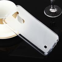 Stter matný gelový obal na mobil LG K10 - bílý