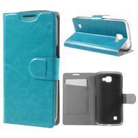 Horse PU kožené pouzdro na mobil LG K4 - modré