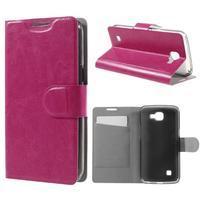 Horse PU kožené pouzdro na mobil LG K4 - rose