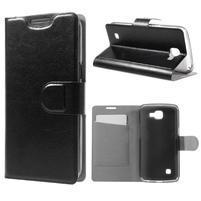 Horse PU kožené pouzdro na mobil LG K4 - černé