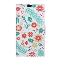 Style peněženkové pouzdro na LG K4 - květinová koláž