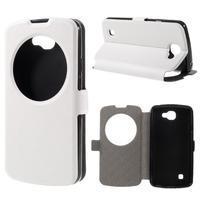 Trend pouzdro s okýnkem na mobil LG K4 - bílé