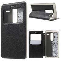 Cross peněženkové pouzdro s okýnkem na LG Zero - černé