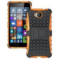 Outdoor odolný obal na mobil Microsoft Lumia 650 - oranžový