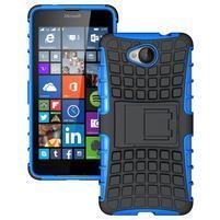 Outdoor odolný obal na mobil Microsoft Lumia 650 - modrý