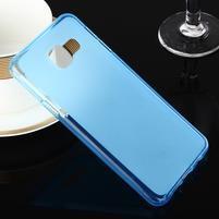 Matný gelový obal pro Samsung Galaxy A3 (2016) - modrý