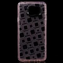 Square gelový obal na mobil Samsung Galaxy A3 (2016) - růžový