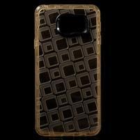 Square gelový obal na mobil Samsung Galaxy A3 (2016) - zlatý