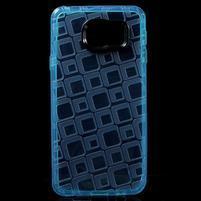 Square gelový obal na mobil Samsung Galaxy A3 (2016) - modrý