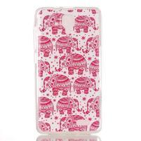 Gelový obal na mobil Lenovo A536 - růžoví sloni