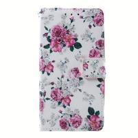 Peněženkové pouzdro na mobil Lenovo A536 - květiny