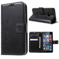 Butterfly peněženkové pouzdro na Microsoft Lumia 535 - černé