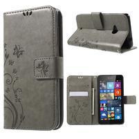 Butterfly peněženkové pouzdro na Microsoft Lumia 535 - šedé