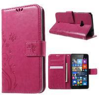 Butterfly peněženkové pouzdro na Microsoft Lumia 535 - rose