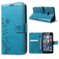 Butterfly peněženkové pouzdro na Microsoft Lumia 535 - modré