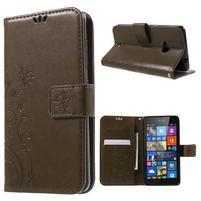 Butterfly peněženkové pouzdro na Microsoft Lumia 535 - coffee