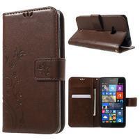 Butterfly peněženkové pouzdro na Microsoft Lumia 535 - hnědé