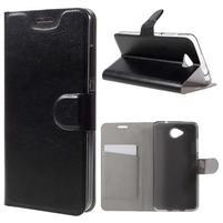 Horse peněženkové pouzdro na mobil Microsoft Lumia 650 - černé