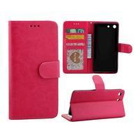 Horse PU kožené pouzdro na Sony Xperia M5 - rose