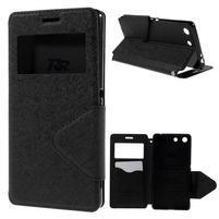 Diary pouzdro s okýnkem na Sony Xperia M5 - černé