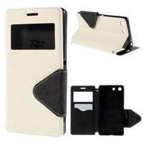 Diary pouzdro s okýnkem na Sony Xperia M5 - bílé