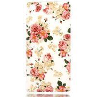Style gelový obal pro Sony Xperia M5 - květinová koláž