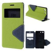 Diary pouzdro s okýnkem na Sony Xperia M5 - zelené
