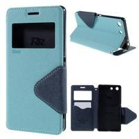 Diary pouzdro s okýnkem na Sony Xperia M5 - světlemodré