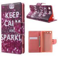 Stand peněženkové pouzdro na Sony Xperia M5 - Keep Calm