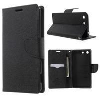 Goos PU kožené penženkové pouzdro na Sony Xperia M5 - černé