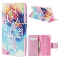 Crafty peněženkové pouzdro na Sony Xperia M5 - lapač snů