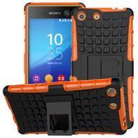 Outdoor odolný kryt na mobil Sony Xperia M5 - oranžový