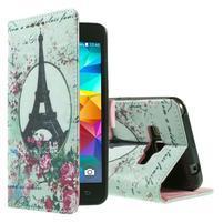 Wallet PU kožené pouzdro na mobil Samsung Galaxy Grand Prime - Eiffelka