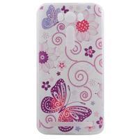 Softy gelový obal na mobil Asus Zenfone 2 Laser - motýlek