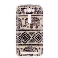 Softy gelový obal na mobil Asus Zenfone 2 Laser - sloni