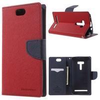 Mr. Goos peněženkové pouzdro na Asus Zenfone Selfie ZD551KL - červené
