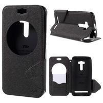 Peněženkové pouzdro s okýnkem na Asus Zenfone Selfie ZD551KL - černé