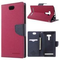 Mr. Goos peněženkové pouzdro na Asus Zenfone Selfie ZD551KL - rose
