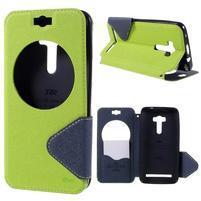 Peněženkové pouzdro s okýnkem na Asus Zenfone Selfie ZD551KL - zelené