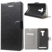 Horse peněženkové pouzdro na Asus Zenfone Selfie ZD551KL - černé