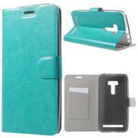 Horse peněženkové pouzdro na Asus Zenfone Selfie ZD551KL - modré