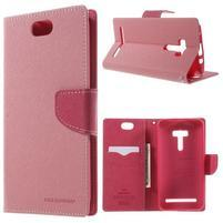 Mr. Goos peněženkové pouzdro na Asus Zenfone Selfie ZD551KL - růžové