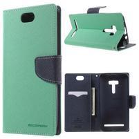 Mr. Goos peněženkové pouzdro na Asus Zenfone Selfie ZD551KL - cyan