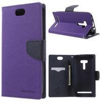 Mr. Goos peněženkové pouzdro na Asus Zenfone Selfie ZD551KL - fialové
