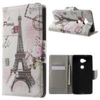 Emotive PU kožené pouzdro na mobil Honor 5X - Eiffelova věž
