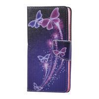 Knížkové pouzdro na mobil Honor 5X - kouzelní motýlci
