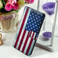 Peněženkové pouzdro Style pro Huawei Ascend P8 Lite - USA vlajka