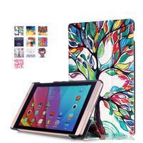 Třípolohové pouzdro na tablet Huawei MediaPad M2 8.0 - malovaný strom
