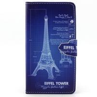 Emotive pouzdro na mobil Huawei P8 Lite - Eiffelova věž